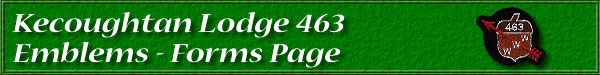 Kecoughtan Lodge 463 Emblems - Site Forms Page